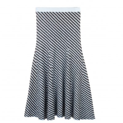 Freya Jacquard Stitched Flare Skirt