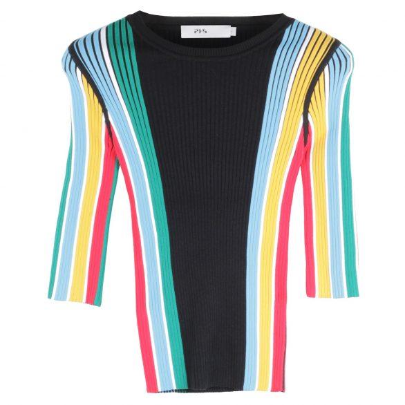 Hannah Multicolour Ribbed Top