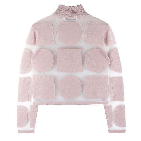 Aria Graphic Sheer Turtleneck - Pink