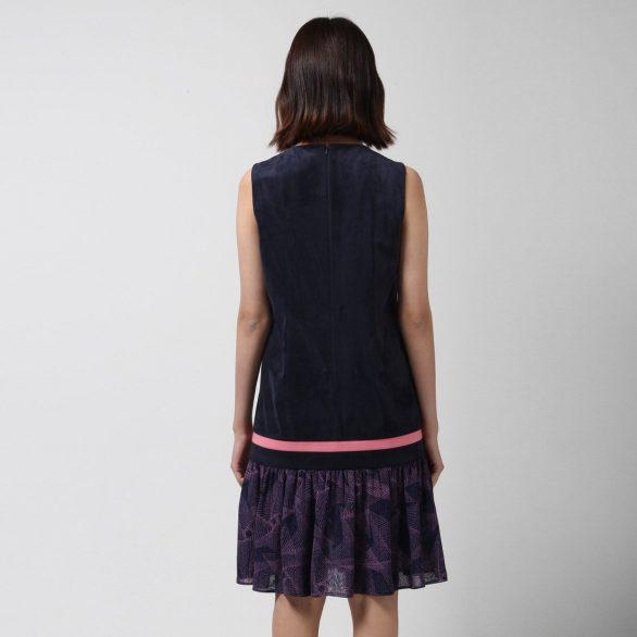 Drop-Waist Printed Dress