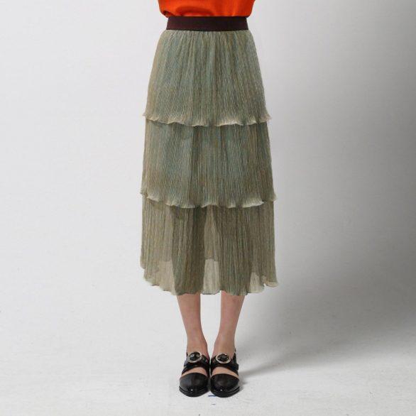 Glitter Tiered Midi Skirt - Sky Blue