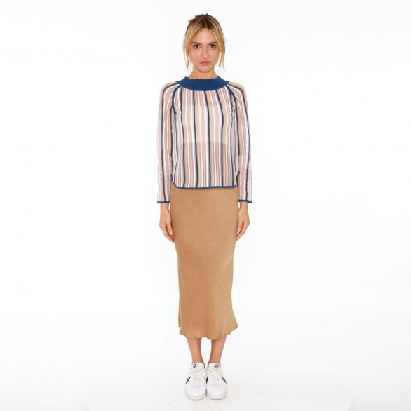Wren Off-shoulder Striped Pullover