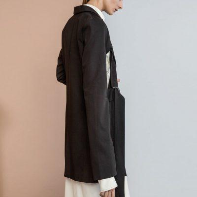 Black Deconstructed Blazer