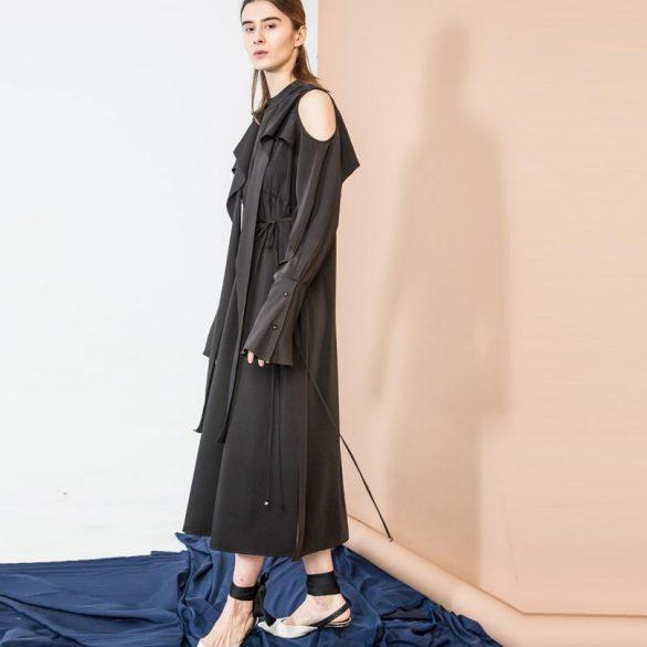 Black Bare Shoulder Dress