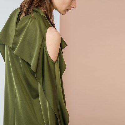 Green Bare Shoulder Dress