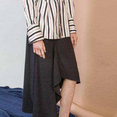 Black Drape Skirt