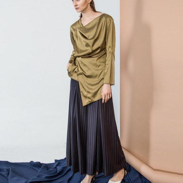 Striped Slit Culottes