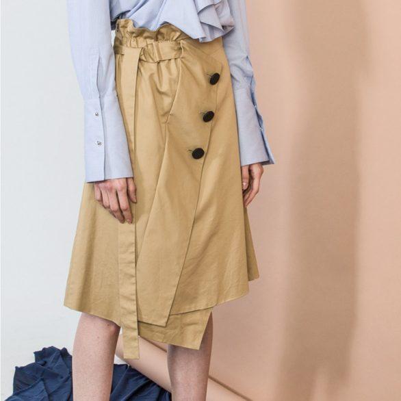 Khaki Deconstructed Skirt