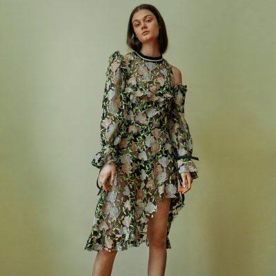 Astrantia Assymetrical Dress