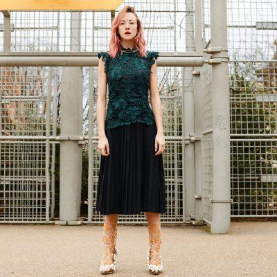 Coxcomb Pleated Dress