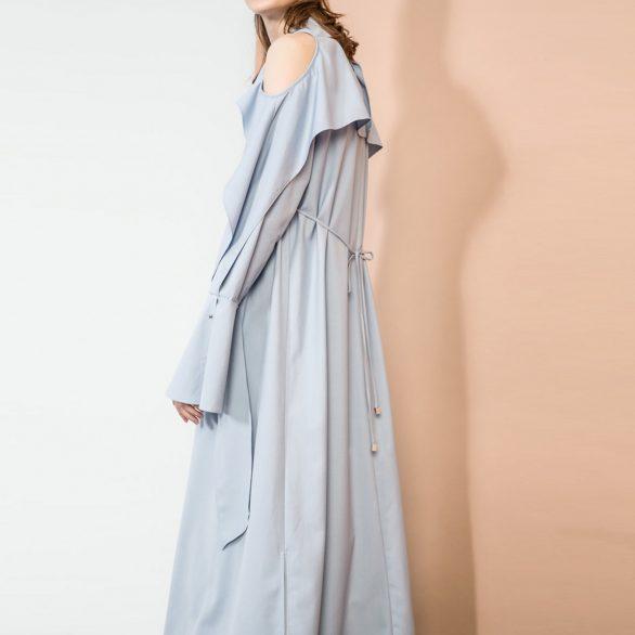Cerulean Bare Shoulder Dress