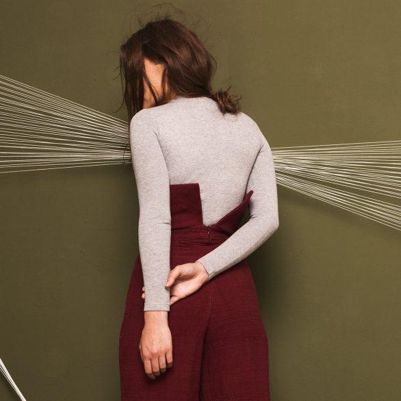 Senayan Grey Bodysuit