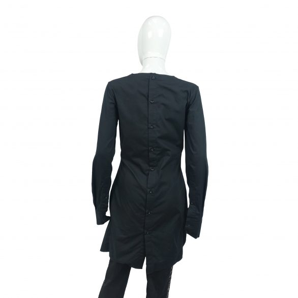 Black Dolma Shirt Dress