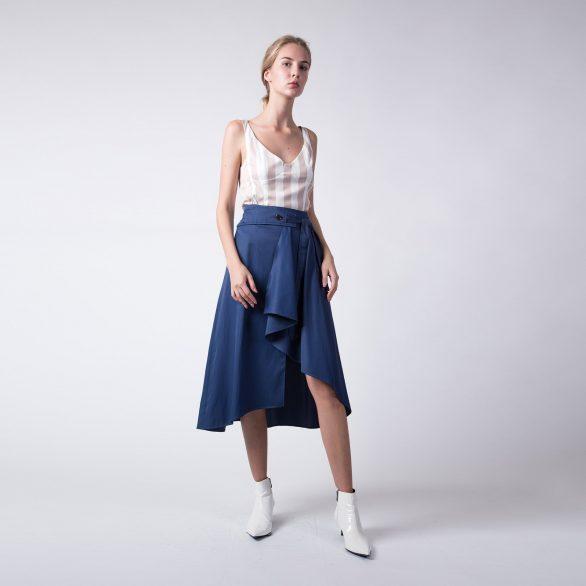 Blue Belted Skirt