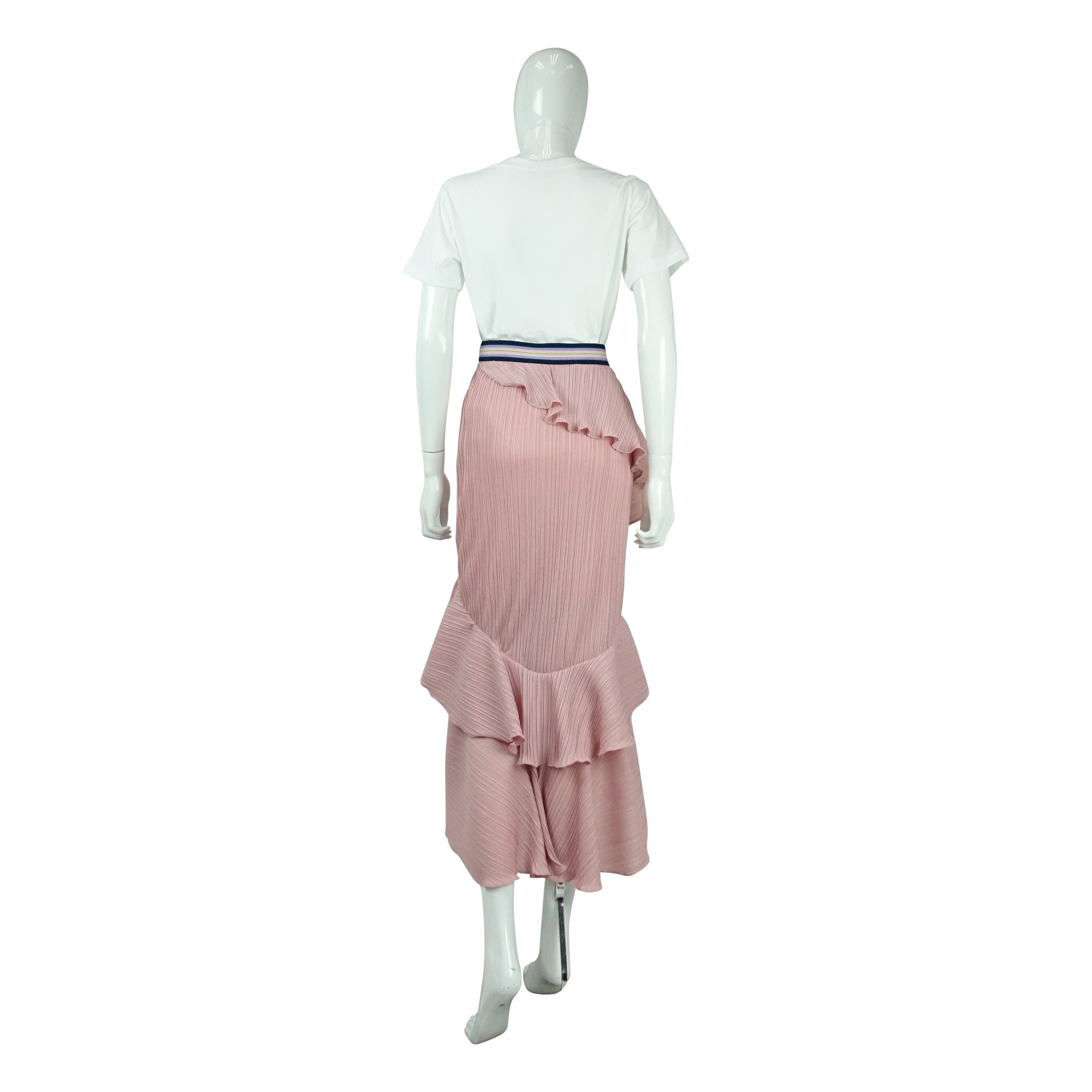 97ee768ed Tiered Pleated Skirt in Pink