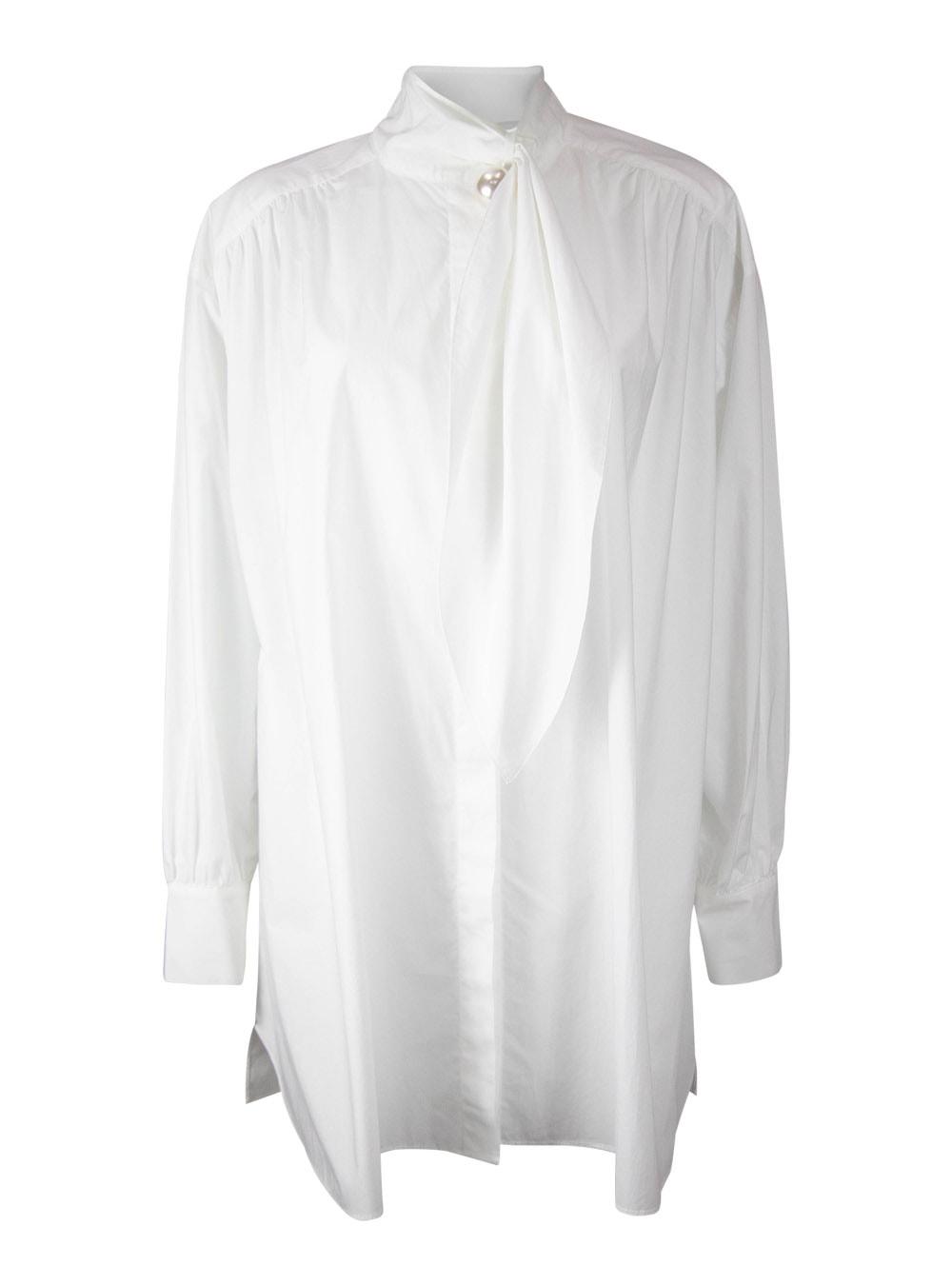 Pearl Button High Collar Shirt Societya