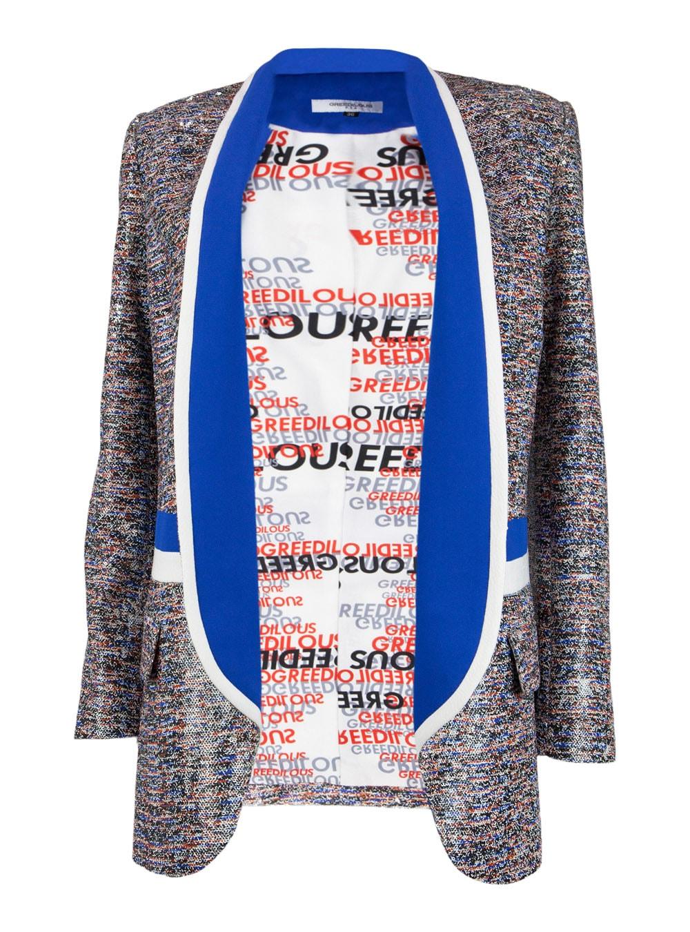 Blue Spangle Tuxedo Jacket