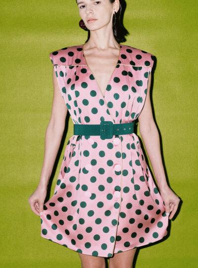 Dazzle Polka Dot Sleeveless Dress